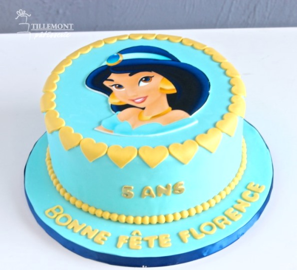 Blue Princess Birthday Cake
