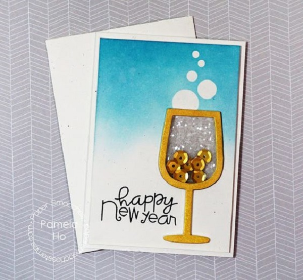 glittered wine new year card image source image source