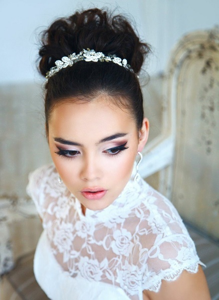 Bridal Hairstyles With Tiara Updo Hairstyle