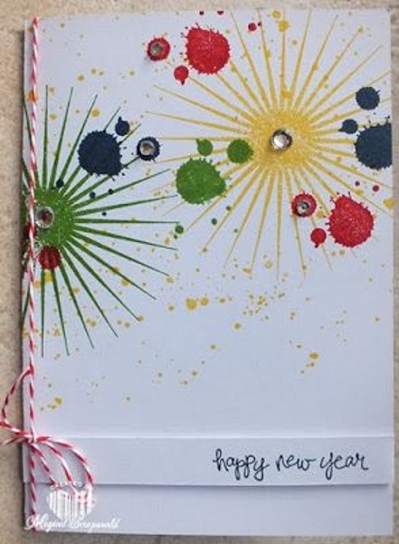 Handmade New Year Greeting Cards 2016 – Pink Lover