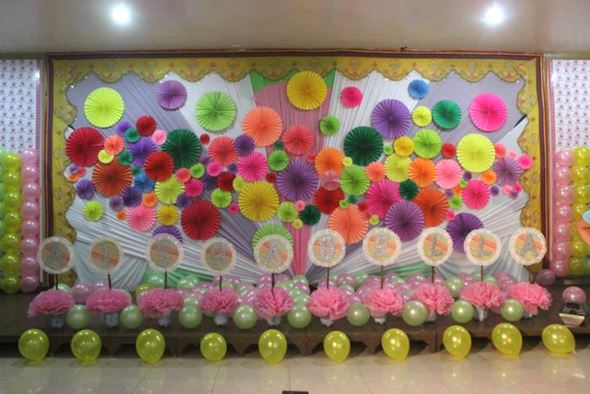 Background Decoration For Birthday Party At Home
