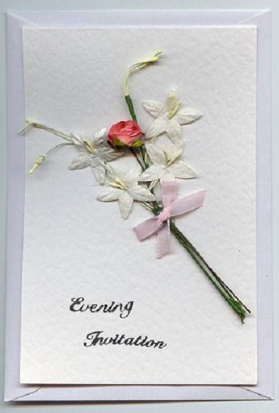Homemade Wedding Invitations 1 Pink Lover