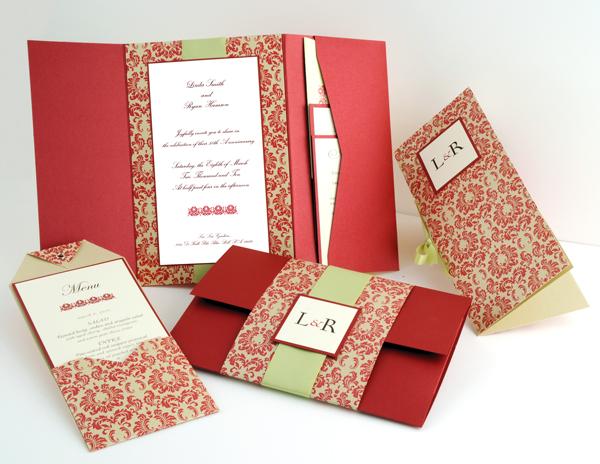 pocket wedding invitation ideas pink lover