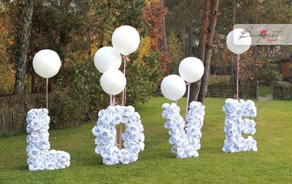 Garden Wedding Letter Decorations Best Garden Wedding Ideas