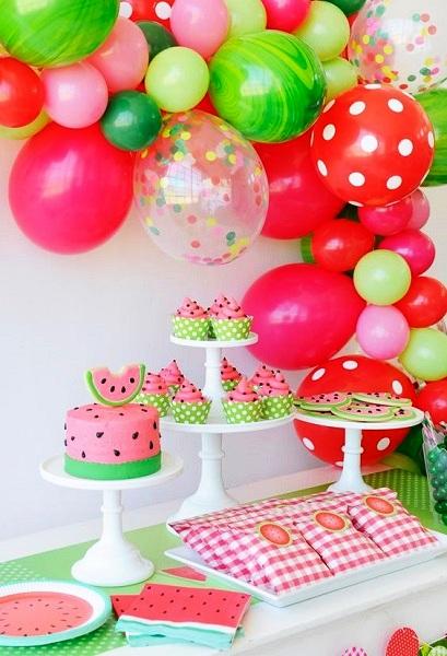 Watermelon Birthday Balloon ideas