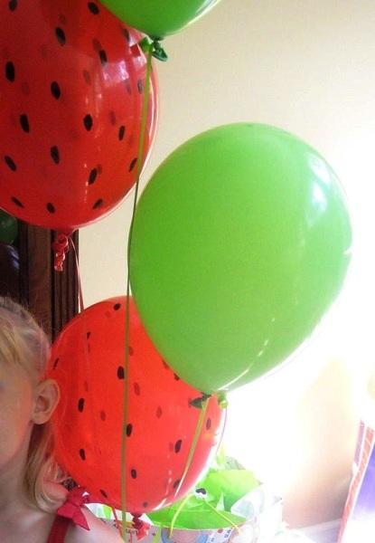 Watermelon Birthday DIY balloons