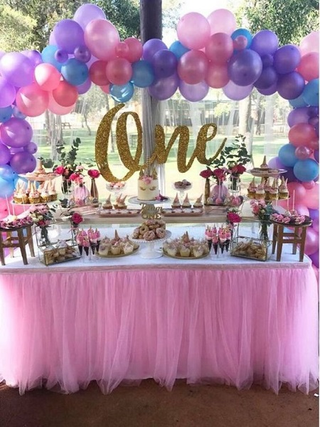 Unicorn birthday party ideas every girl would love you have for 1 year birthday decoration