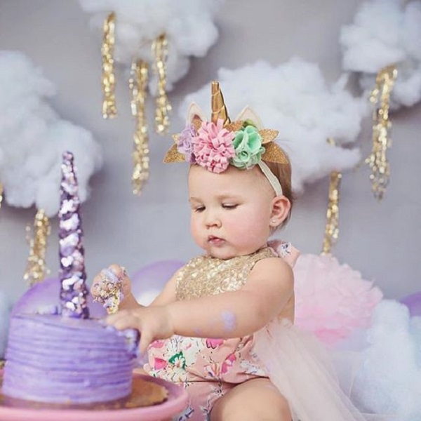 Baby Girl First Birthday Smash Cake Outfit