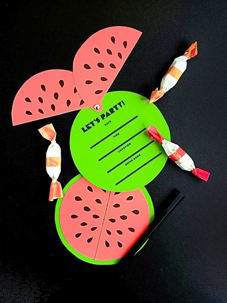 DIY Watermelon Invitations