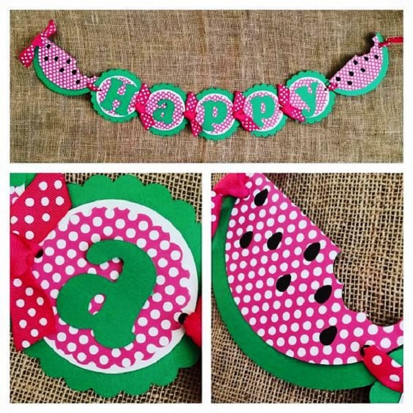 Watermelon Birthday Banners