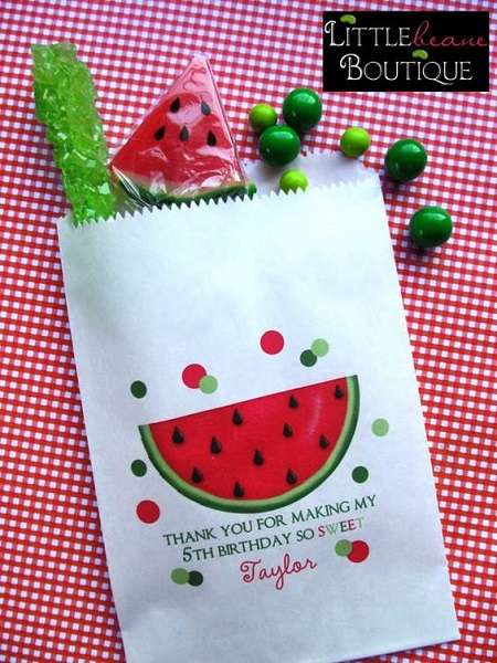 Watermelon Birthday Party favors