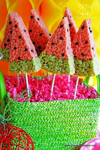Watermelon Birthday Party treats