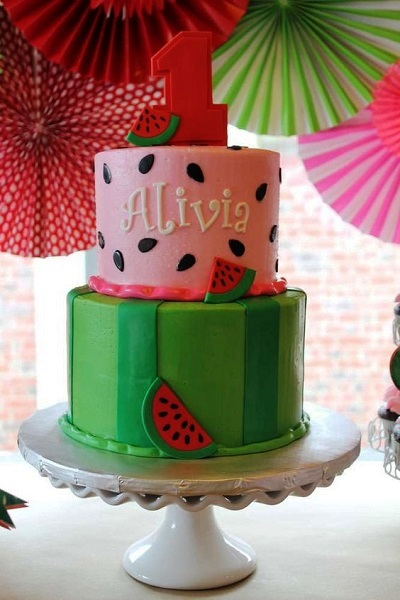 Watermelon Birthday Cake Ideas
