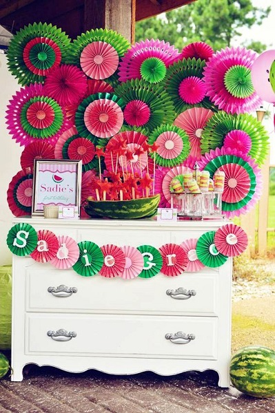 Watermelon Birthday Party Crafts