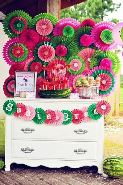Watermelon Birthday Party Crafts