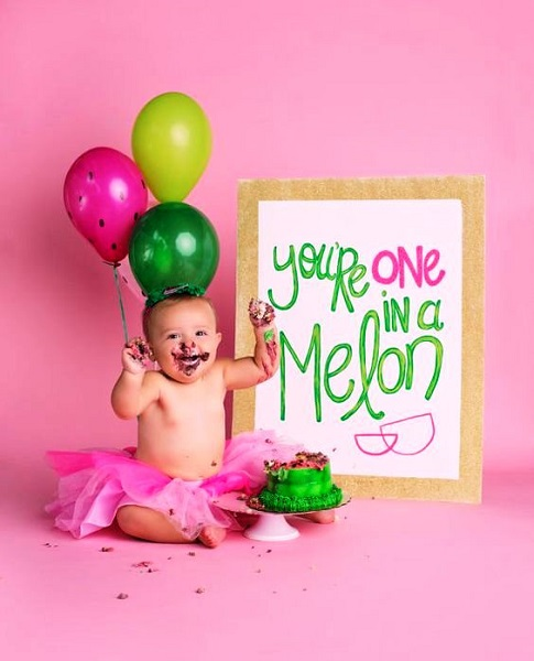 Watermelon Birthday Photos
