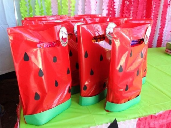 Watermelon Birthday Party bags