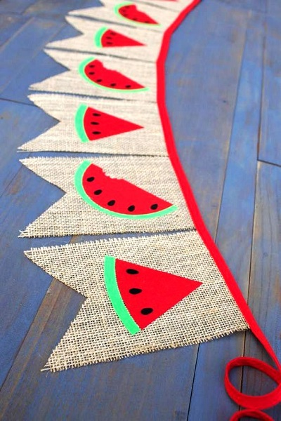 Watermelon Birthday Party banners