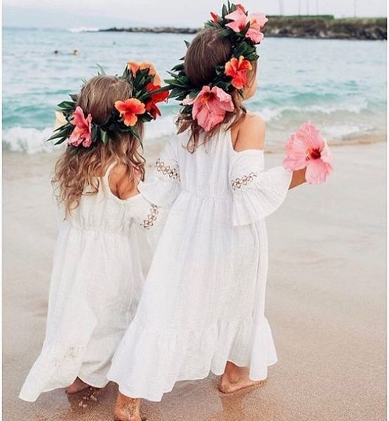 Flower girl dresses that will turn them into little ladies for Flower girl dress for beach wedding