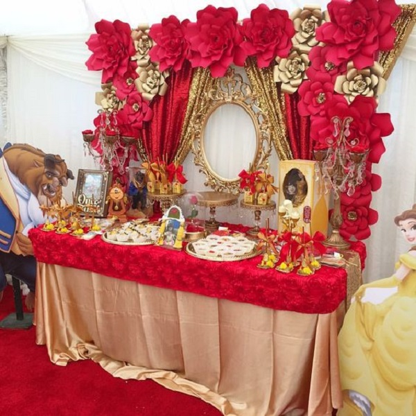 Beauty And The Beast Birthday Party Ideas Best For Little Girls Cool Belle Birthday Decorations