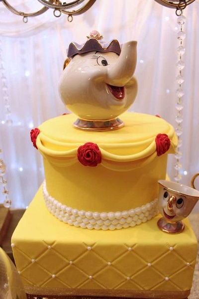 Cake Topper Disney La Bella Y La Bestia : Beauty and the Beast Birthday Party Ideas Best for Little ...