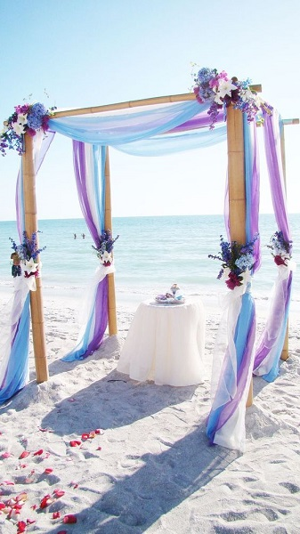 Simple Beach Wedding Ideas Pink Lover