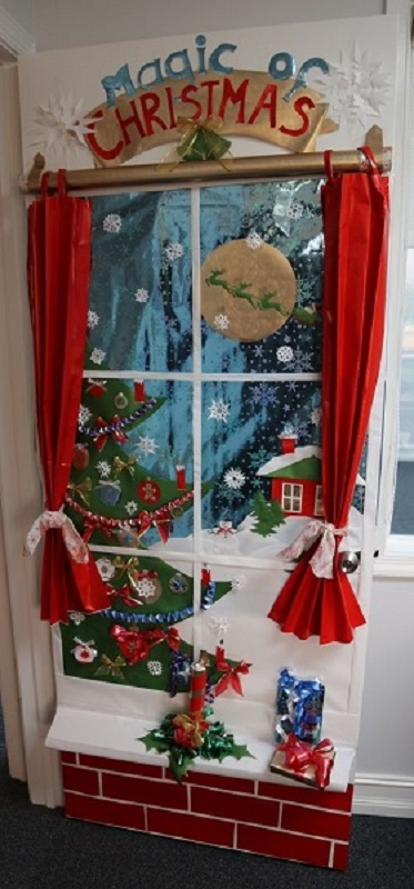 christmas door decoration ideas for office