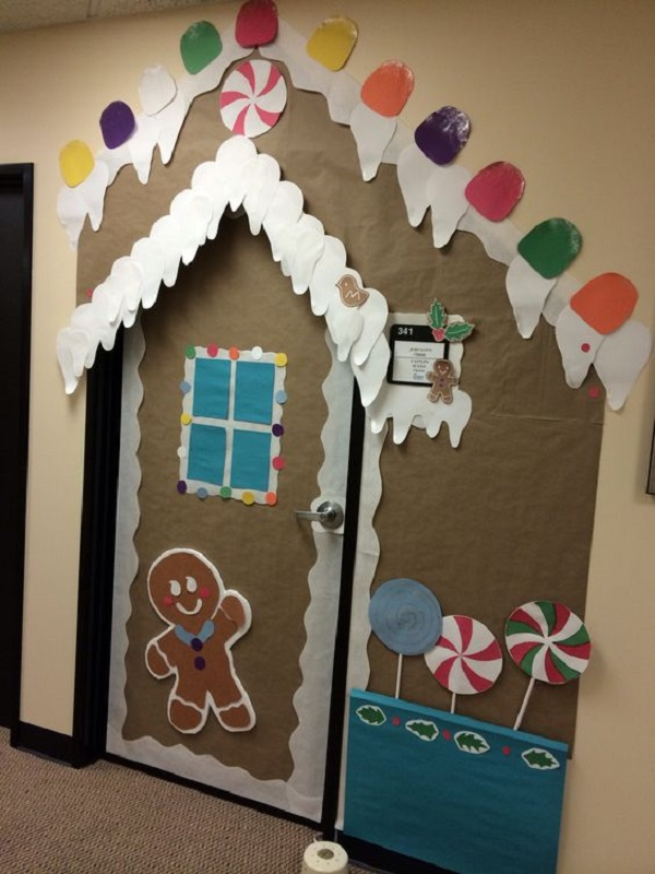 diy christmas decorations for office doors