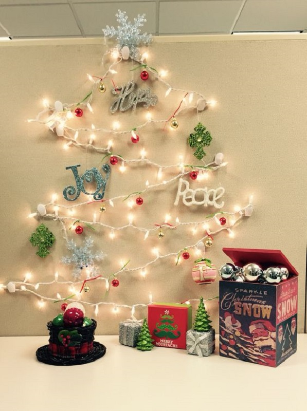 easy office christmas decorations - Office Christmas Decorations