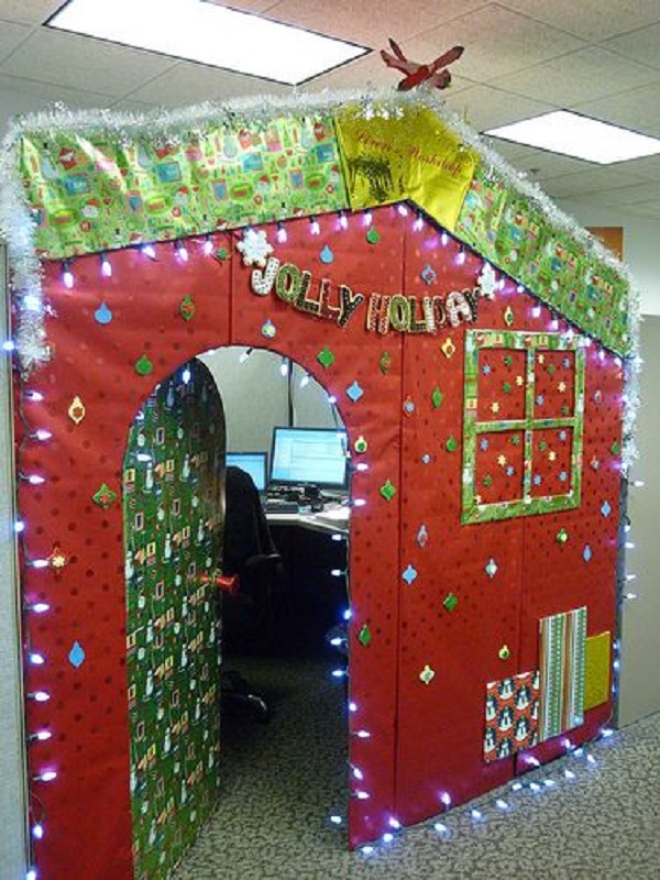 office door christmas decorations - Office Christmas Decorating Contest